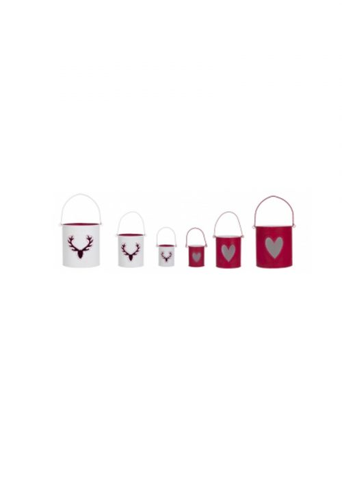 SET CUBO PORTAVELAS HEART