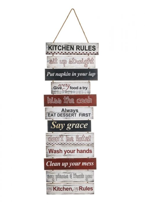 "PLACA PARED ""KITCHEN"" MULTICOLOR"